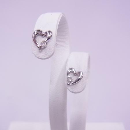 K18WGダイヤモンドピアス